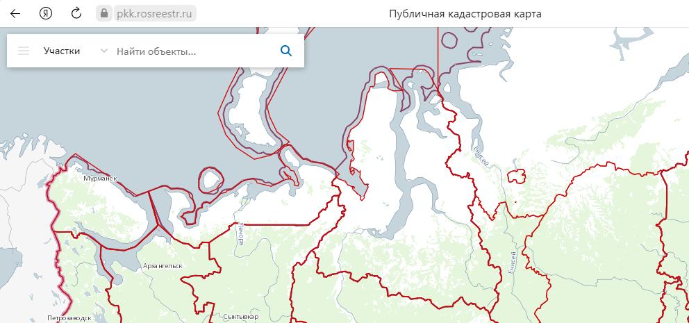 Публичная кадастровая карта в сети Интернет