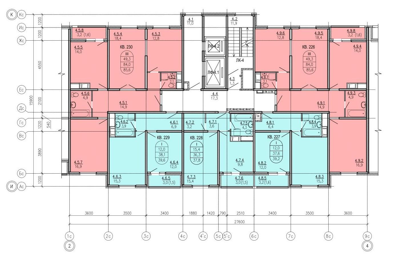 Поэтажный план этажа